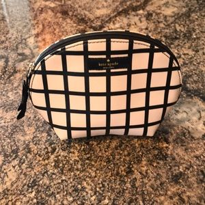 Kate spade New York make up bag crisscross pattern